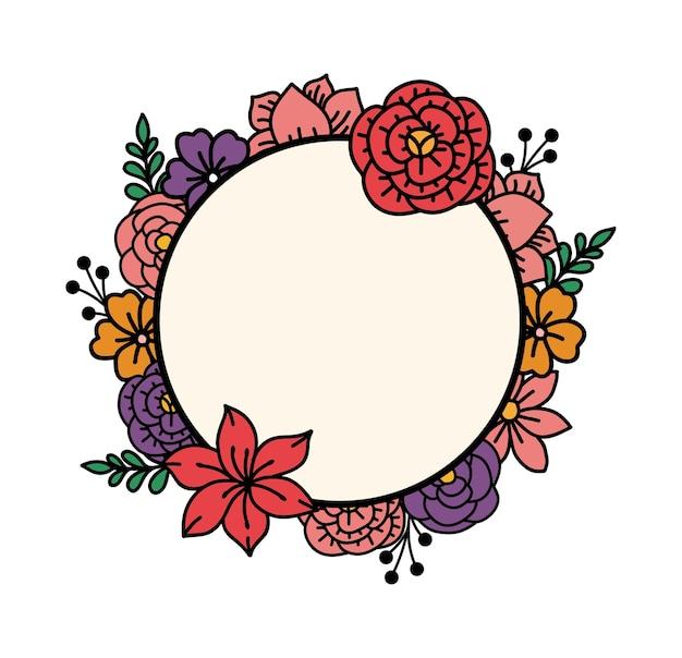 Guirlanda floral simples com cor simples