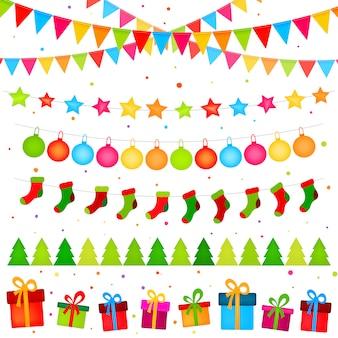 Guirlandas de decoração de natal