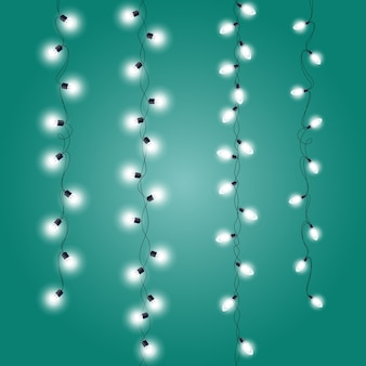 Guirlandas de decorações de natal - luzes de natal verticais