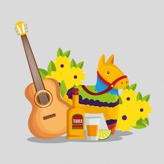 Guitarra com tequila
