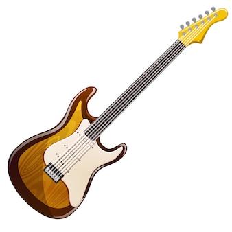 Guitarra elétrica de madeira