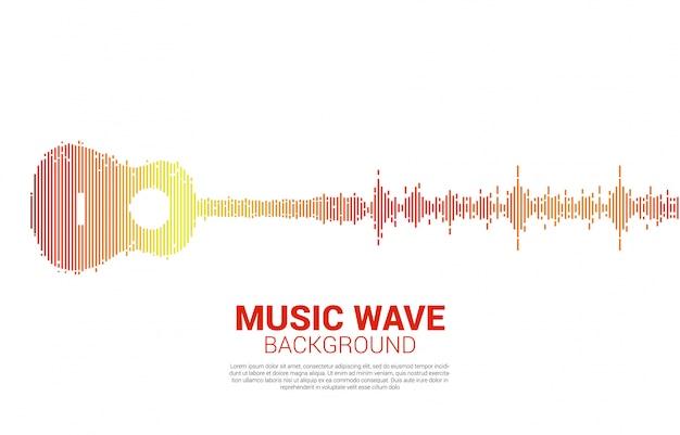 Guitarra onda sonora equalizador de música para concertos de eventos e festival de música