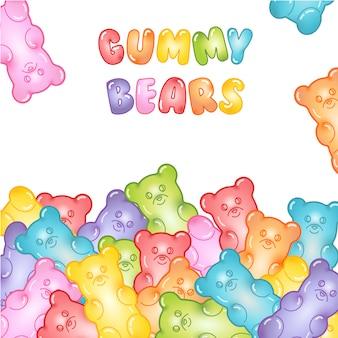 Gummy bears background