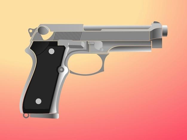Gun violência ilustração vetorial arma