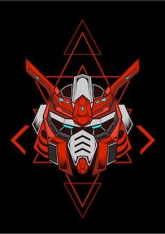 Gundam cyborg futurista linha arte trabalho coleção anime amantes