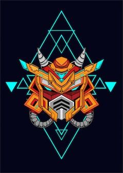 Gundam mal predador conceito linha arte trabalho coleção