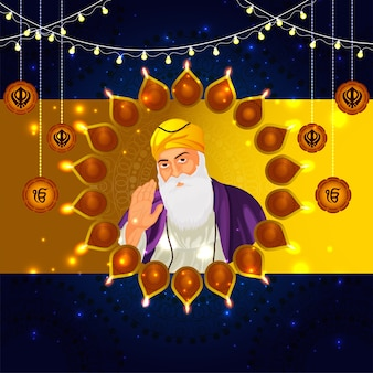 Guru nanak jayanti sikh, primeiro guru guru nanak dev ji, celebração do nascimento