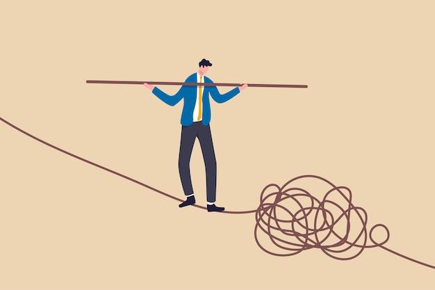 Habilidade de liderança para liderar empresa em situação de crise, conseguir resolver conceito de problema de risco