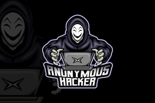 Hacker anônimo - modelo de logotipo esport