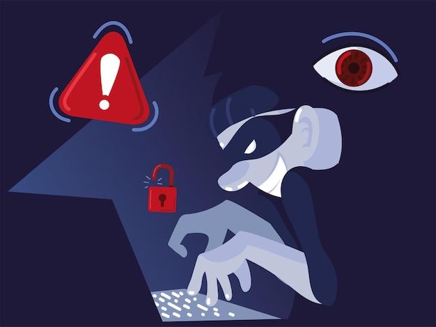 Hacker ataque de phishing de dados