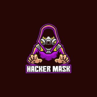 Hacker máscara de senha criminosa anônima roubo de segurança de software de espionagem