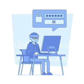 Hacker que quebra a senha do computador