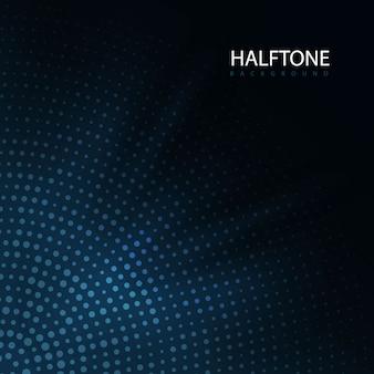 Hafltone circular azul