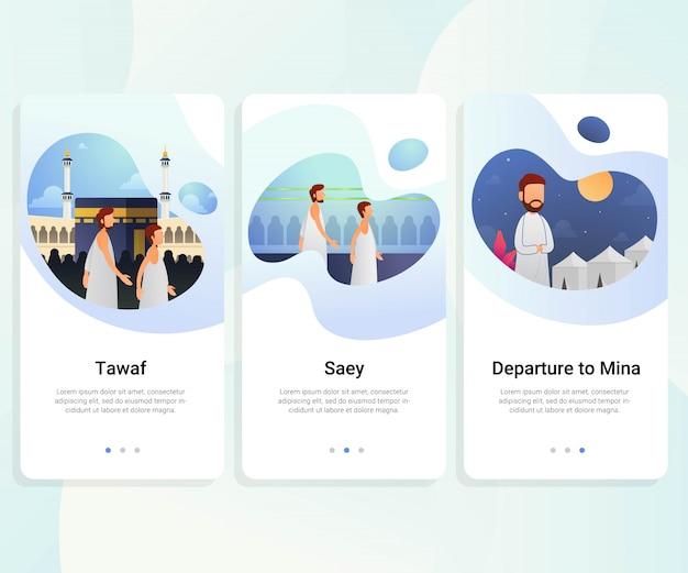 Hajj guide kit de interface do usuário passo a passo