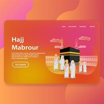 Hajj mabrour página inicial landing web design da interface do usuário