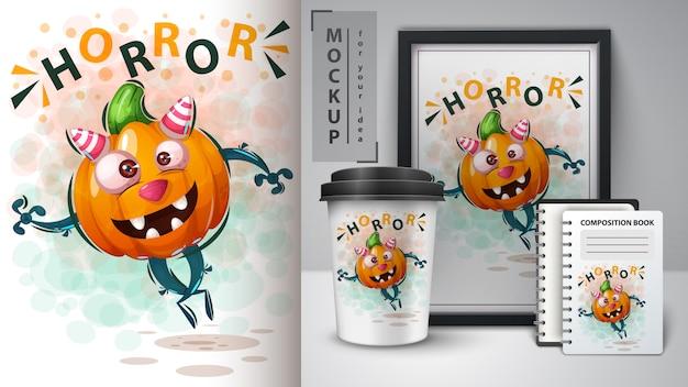 Hallooween pumpkinposter e merchandising