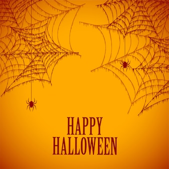 Halloween aranha teia de aranha fundo assustador e assustador