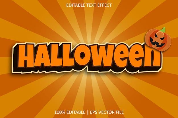 Halloween com efeito de texto editável de estilo moderno