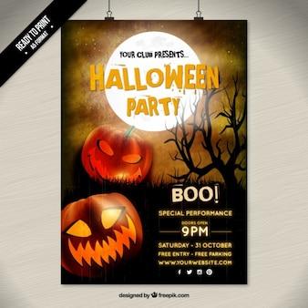 Halloween convite partido poster