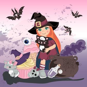 Halloween cor ilustração vetorial conjunto halloween smile