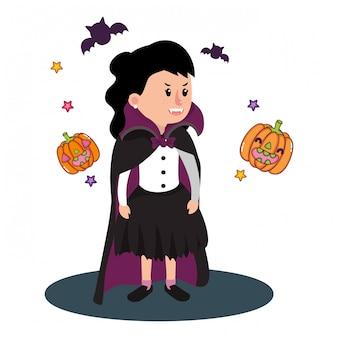 Halloween crianças desenhos animados