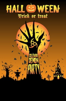 Halloween desencadeie a festa demônio