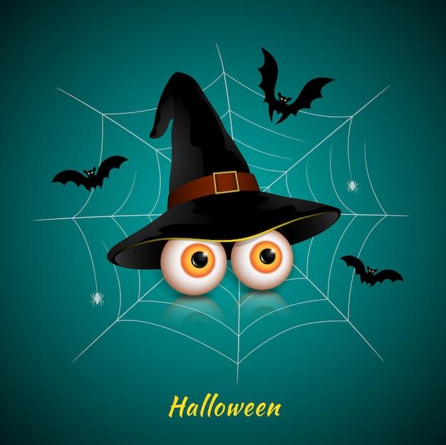 Halloween festa truque ou tratar olhos