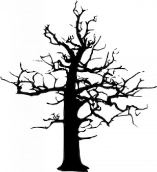 Halloween grande árvore morta