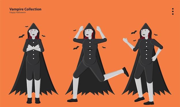 Halloween horror assustador traje outubro abóbora assustador festa vampiro divertido papel de parede fundo