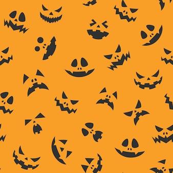 Halloween jack-o'-lantern padrão de cara de abóbora