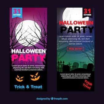 Halloween partido folhetos pacote