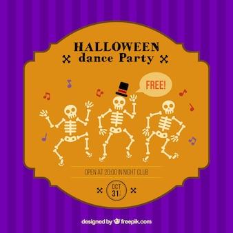 Halloween poster festa de dança