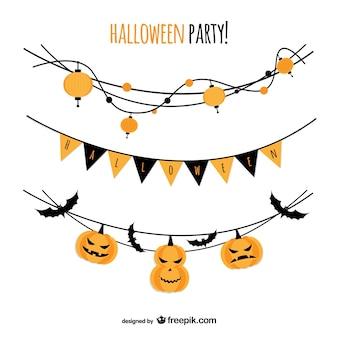 Halloween vector festa com guirlandas