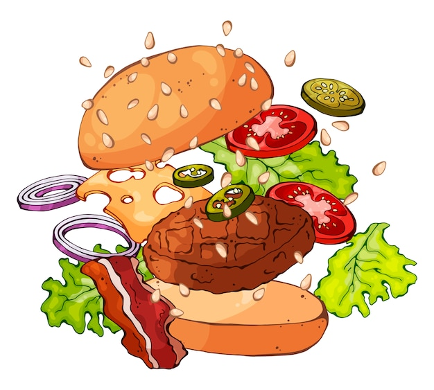 Hambúrguer alastrando
