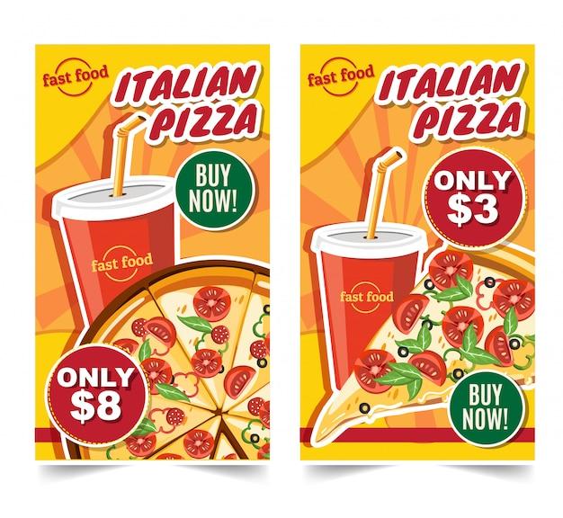 Hambúrguer de fast-food, fast-food refeições banners saboroso conjunto fast-food vector