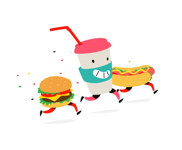 Hambúrguer de personagens