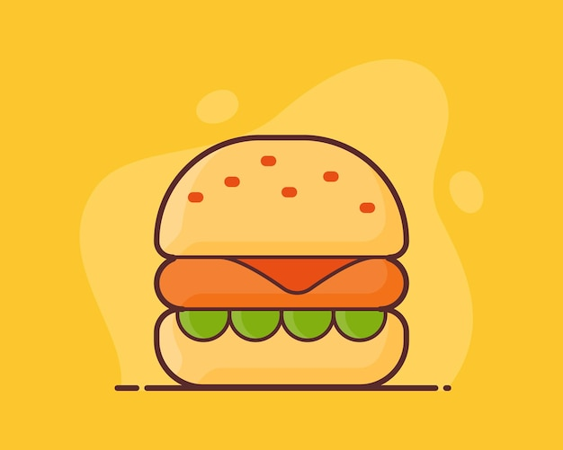 Hambúrguer de queijo fast food americano