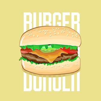 Hambúrguer de vetor de ilustração