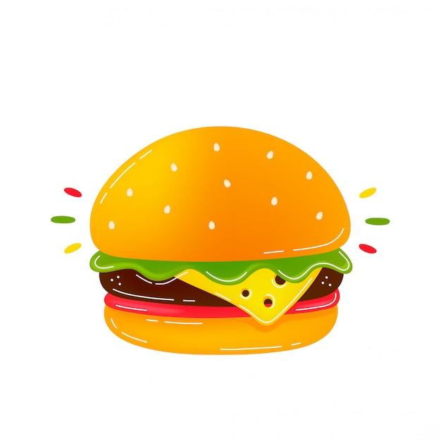 Hambúrguer delicioso de beleza.
