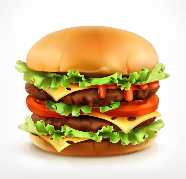 Hambúrguer grande, ícone