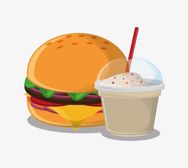 Hambúrguer rápido e comida de carnaval