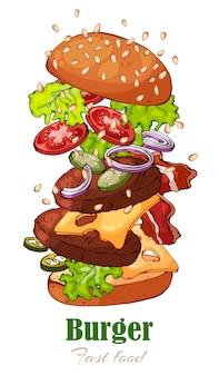 Hambúrguer.
