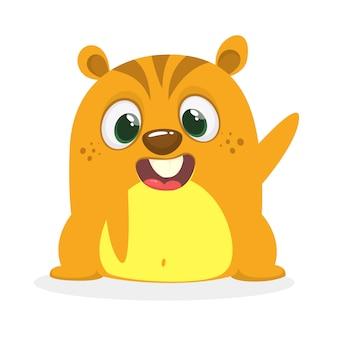 Hamster dos desenhos animados ou esquilo