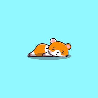 Hamster kawaii fofo desenhado à mão