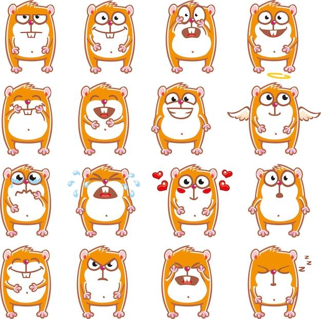 Hamsters smiley agrupados individualmente para facilitar o copiar e colar.