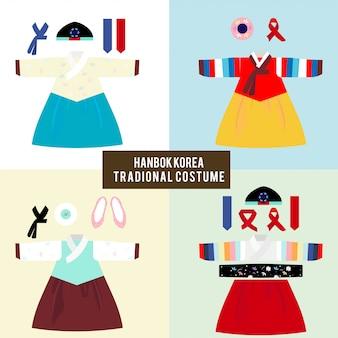 Hanbok coreia traje tradicional