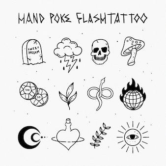 Hand poke flashtattoo
