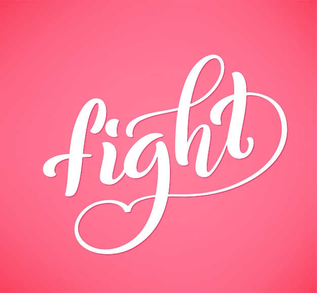 Handdrawn lettering luta pela conscientização do câncer de mama