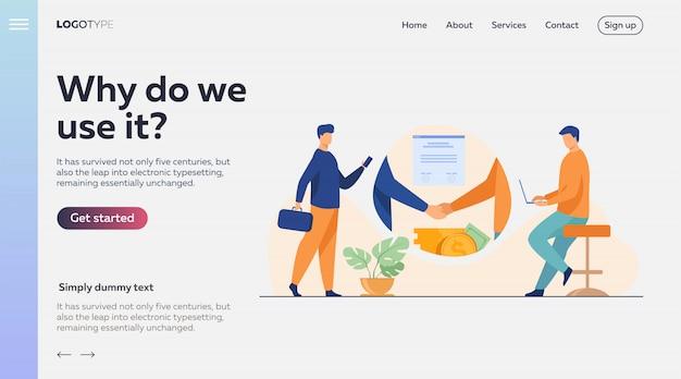 Handshake de parceiros de negócios