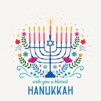Hanukkah desenhado à mão
